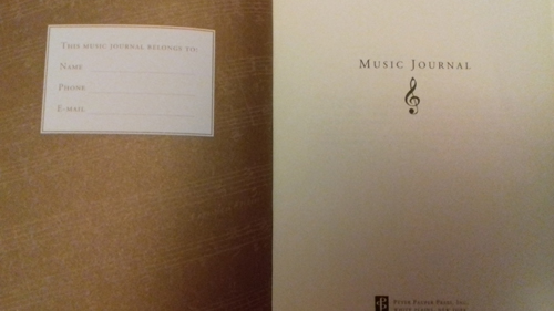 Image of Chantelle's music journal